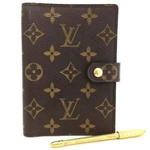 Louis Vuitton Monogram Agenda + LV Pen + Inserts